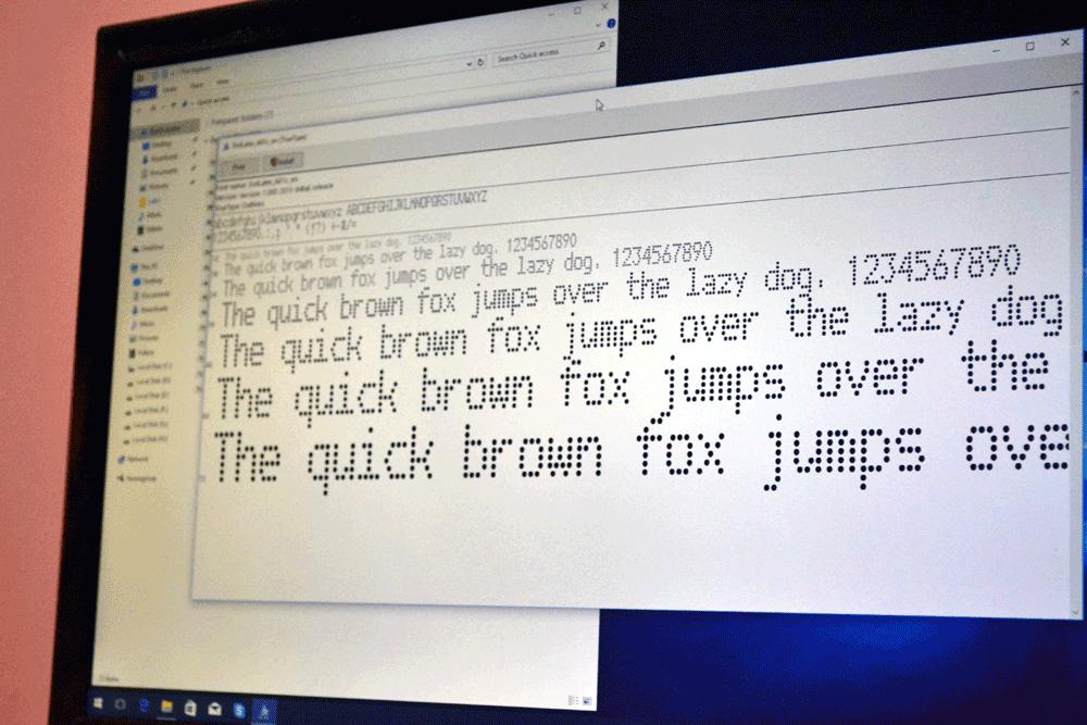 Unusual Dot Matrix Printer Font_Receipt Font, Real Invoice