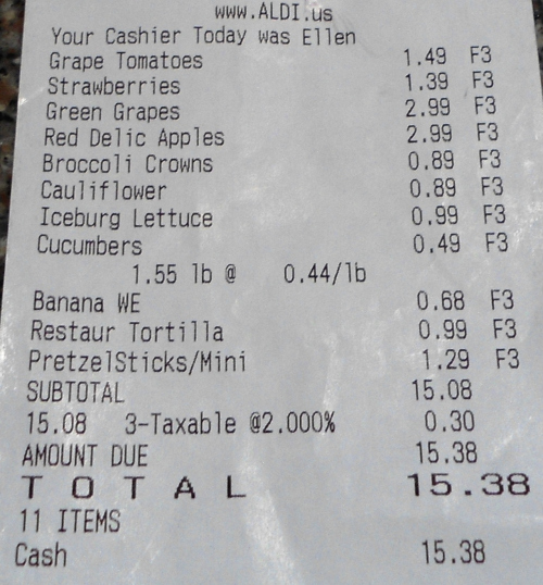 the most common receipt font of cash register receipt font