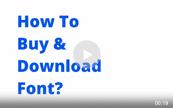 How To Buy & Download Font? ( demo video )